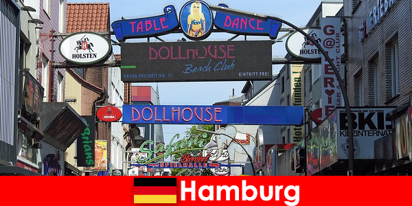 Hamburg Reeperbahn – seks turizmi için gece hayatı genelevleri ve eskort hizmeti