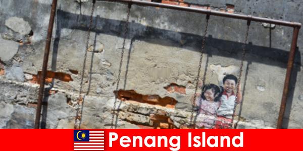 Penang Adası'ndaki büyüleyici ve çeşitli sokak sanatı yabancıları hayrete düşürüyor